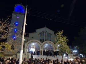 Ιερός Ναός Κοιμήσεως Θεοτόκου Ηλιούπολης νύχτα